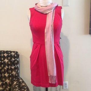 Hot pink beautiful dress.